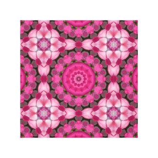 Toile Le beau rose se développe 001,2, mandala de nature