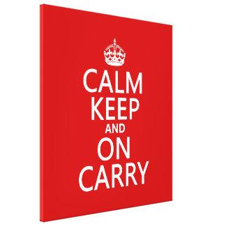 Toile Le calme garde et sur Carry - toutes les couleurs