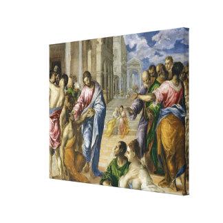 Toile Le Christ guérissant les aveugles