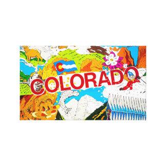 Toile Le Colorado coloré