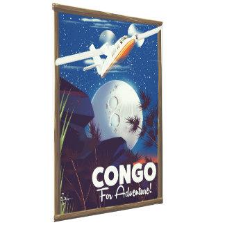 Toile Le Congo pour l'aventure ! affiche de voyage