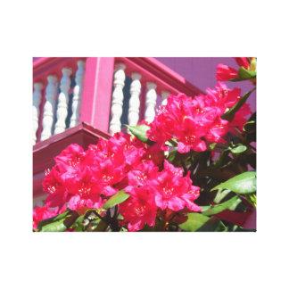 Toile Le cottage rose sur le balcon de Martha's Vineyard