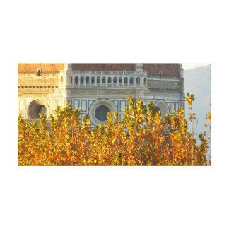 Toile Le dôme de Brunelleschi dans l'automne