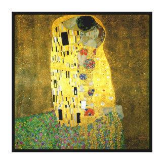 Toile Le ~ Gustav Klimt de baiser