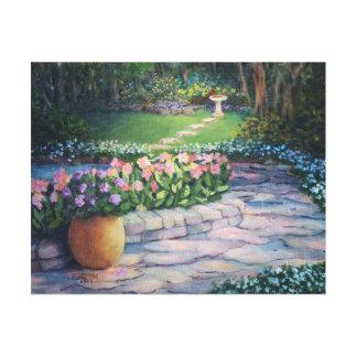 Toile Le jardin d'Elaine