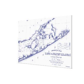 Toile Le Long Island la carte VC de Hamptons