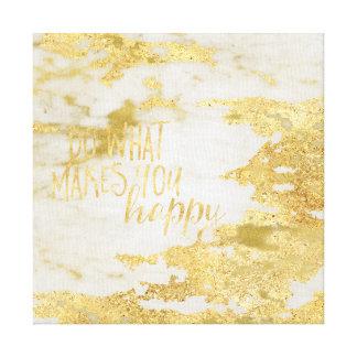 Toile Le marbre blanc étincelant d'or font ce qui vous