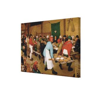 Toile Le mariage rural par Pieter Bruegel l'aîné