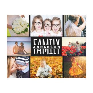 Toile Le modèle de collage de photo de la famille 8 plus