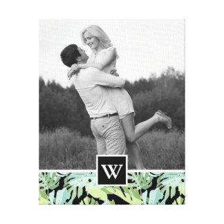Toile Le motif floral | de jungle ajoutent votre photo