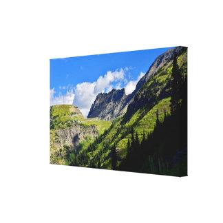 Toile Le mur de jardin en parc national de glacier
