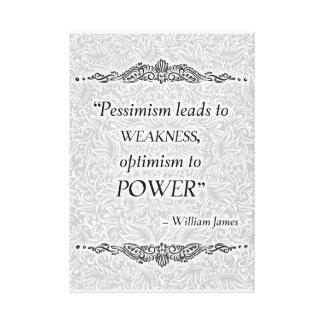 Toile Le pessimisme mène à la faiblesse - Quote´s