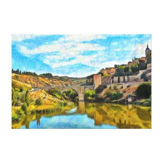 Toile Le pont d'Asarkiel et le musée militaire