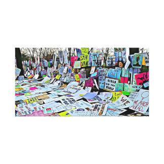 Toile Le prétest de mars des femmes signe l'art de mur