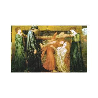 Toile Le rêve de Dante à l'heure de la mort de Béatrice