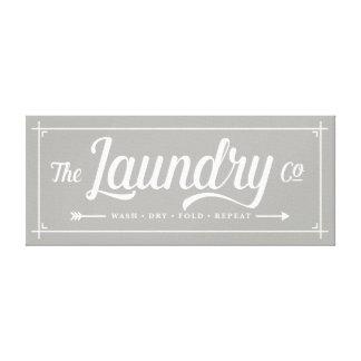 Toile Le signe de Laundry Company
