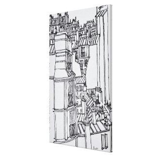 Toile Le style de Haussmann couvre | Paris, France