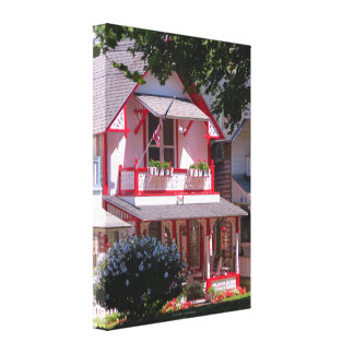 Toile Le vignoble de Cottage-Martha rouge et blanche de