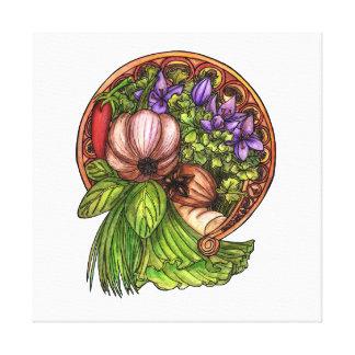 Toile Légumes de nouveau d'art