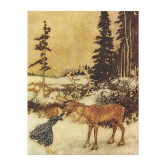 Toile Les beaux-arts de la Reine Edmund Dulac de neige