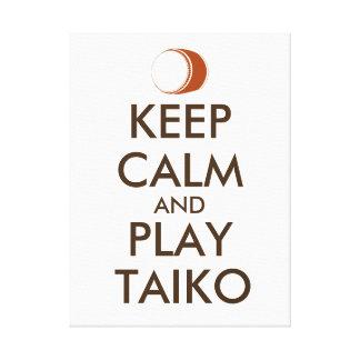 Toile Les cadeaux de Taiko gardent la coutume de tambour