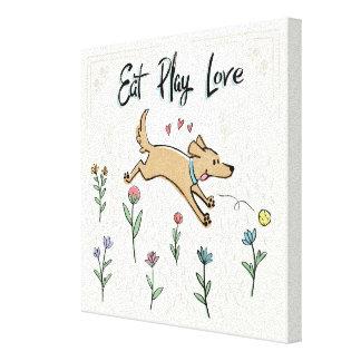 Toile Les chiens dans le jardin II | mangent l'amour de