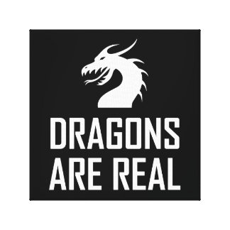 Toile Les dragons sont vrai imaginaire