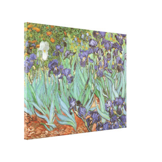 Toile Les iris par Vincent van Gogh, cru fleurit l'art