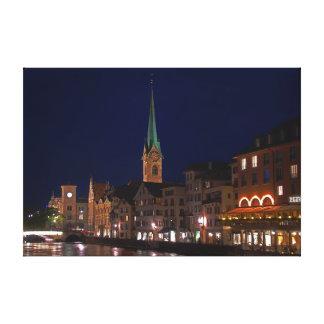 Toile Les lumières d'égaliser Zurich