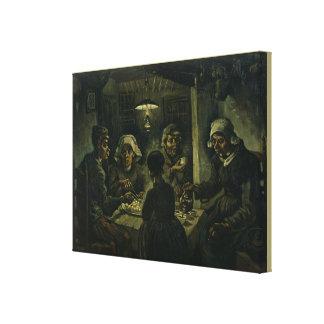 Toile Les mangeurs de pomme de terre par Vincent van
