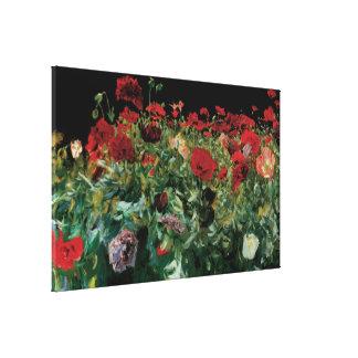 Toile Les pavots par Sargent, cru fleurit l'art floral