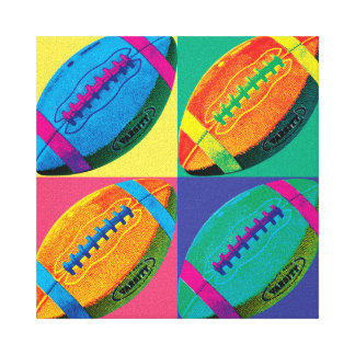 Toile Les quatre football dans différentes couleurs