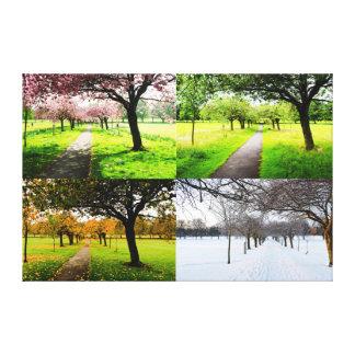 Toile Les quatre saisons