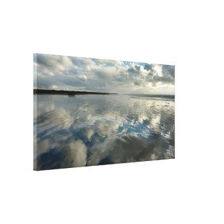 Toile Les réflexions de ciel d'océan ont étiré la copie