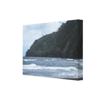 Toile Les rivages de la vallée de Waipio