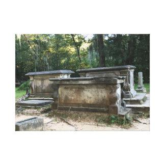 Toile Les ruines graves d'église de Sheldon ont étiré la