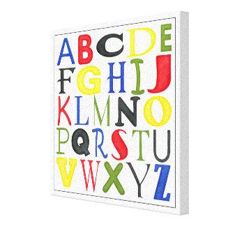 Toile Lettres brillamment colorées par Megan Meagher