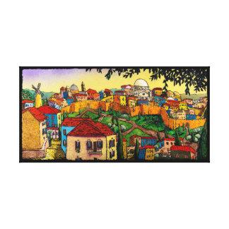 Toile Lever de soleil au-dessus de Jérusalem par