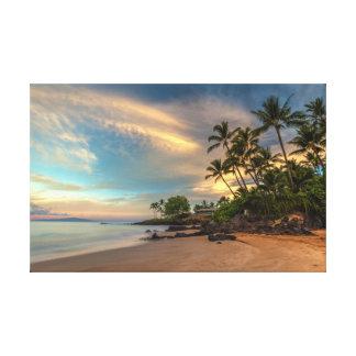 Toile Lever de soleil de plage de Po'olenalena