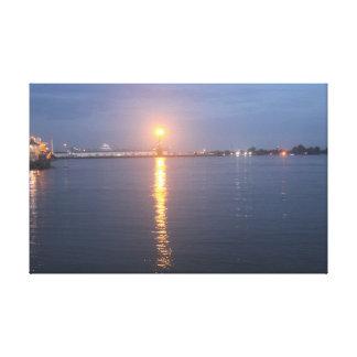 Toile Lever de soleil du fleuve Mississippi