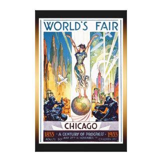 Toile L'Exposition universelle de Chicago 1933 - rétro