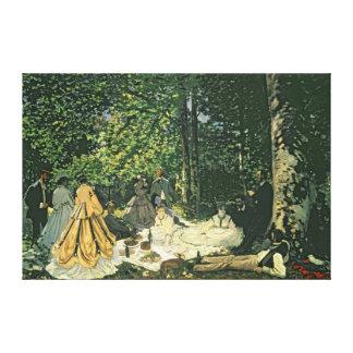 Toile l'Herbe de sur de Claude Monet | Le Dejeuner,