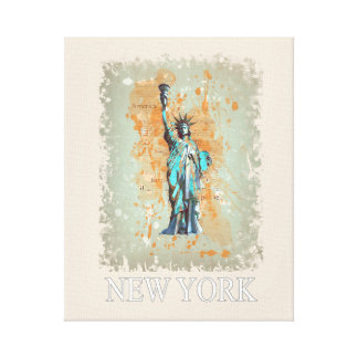 Toile Liberty, New York, Manhattan, les USA, l'Amérique
