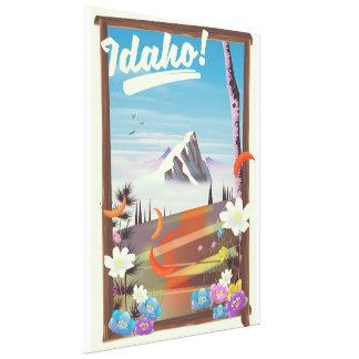 Toile L'Idaho ! affiche de voyage de paysage