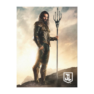 Toile Ligue de justice | Aquaman sur le champ de