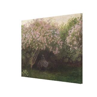 Toile Lilas de Claude Monet |, temps gris, 1872