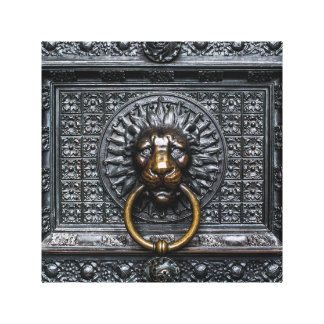 Toile Lion de heurtoir - noir/or