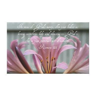 Toile Lis de lilas de 12:1 de Romains