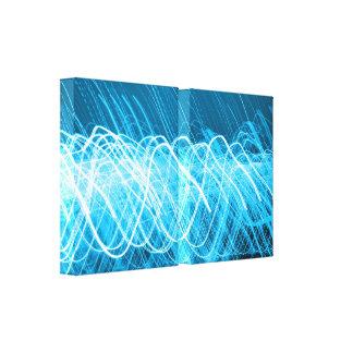 Toile Lites bleu au néon