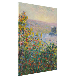 Toile Lits de fleur vintages de Monet chez Vétheuil